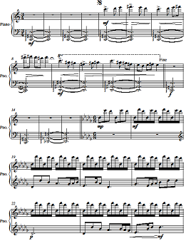 Finished composition in the style of Debussy